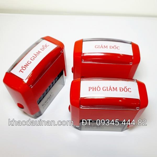 Khắc con dấu chức danh giá rẻ giao hàng tận nơi, sản phẩm đảm bảo chất lượng và uy tin