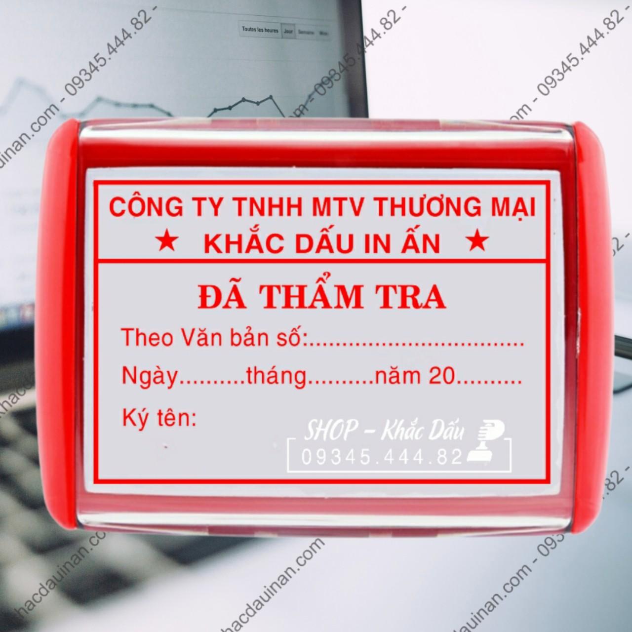 khắc con dấu đã thẩm tra tại quận 5 tphcm, làm con dấu đã thẩm tra giao hàng tận nơi.