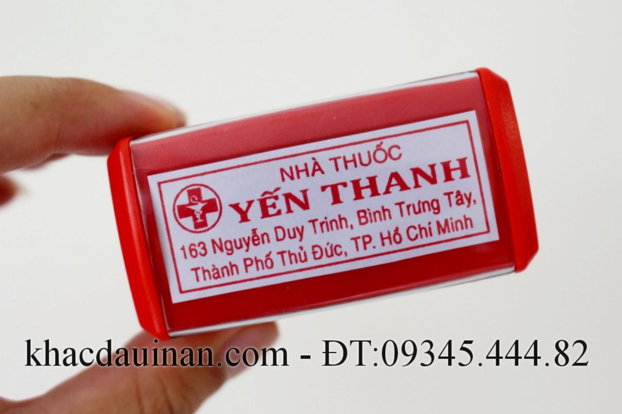 khắc dấu vuông nhà thuốc giá rẻ lấy liền giao hàng tận nơi tại quận 6 TPHCM